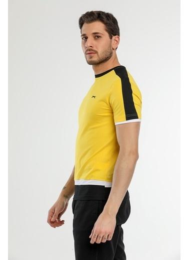 Slazenger Slazenger MASS Erkek T-Shirt Sarı Sarı